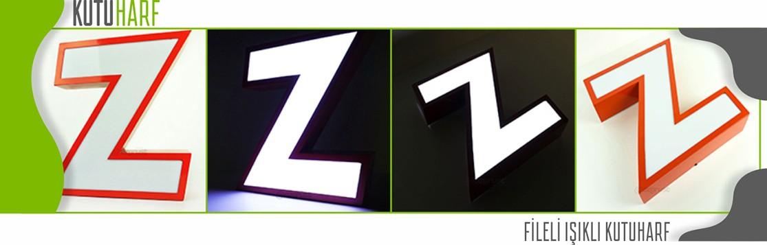 alüminyum kutu harf fileli önden ışıklı
